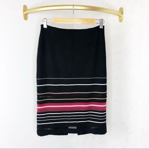 💜White House Black Market Striped Pencil Skirt